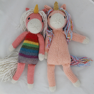 Knitting Patterns For Unicorns : Ravelry: Nilla the Unicorn pattern by Rachel Borello Carroll