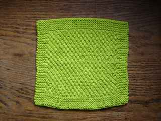 Ravelry: Double Moss Stitch Dishcloth pattern by Erin H