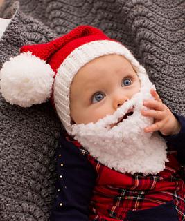 Baby Beard Hat Knitting Pattern : Ravelry: Baby Santa Hat with Beard pattern by Nancy Anderson
