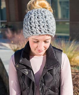 Ravelry On Trend Messy Bun Hat Pattern By Katy Petersen