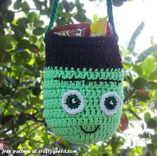 Free Crochet Patterns For Trick Or Treat Bags : Ravelry: Frankenstein Trick or Treat Bag pattern by Rhea ...