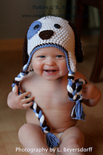 Crochet Pattern Baby Dog Hat : Ravelry: Patchy Puppy Dog Hat pattern by Ruth McColm