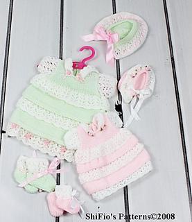 Emmy Doll Knitting Pattern : Ravelry: Emmy Doll Lacey Layers Dress Knitting Pattern #94 ...