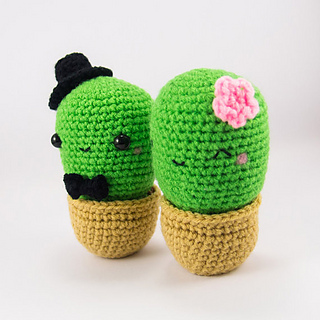 Cactus Amigurumi Venta : Ravelry: Cactus Couple Amigurumi pattern by snacksies ...