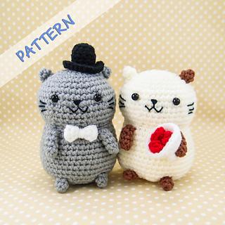 Ravelry: Cat Couple Amigurumi pattern by snacksies snacksies