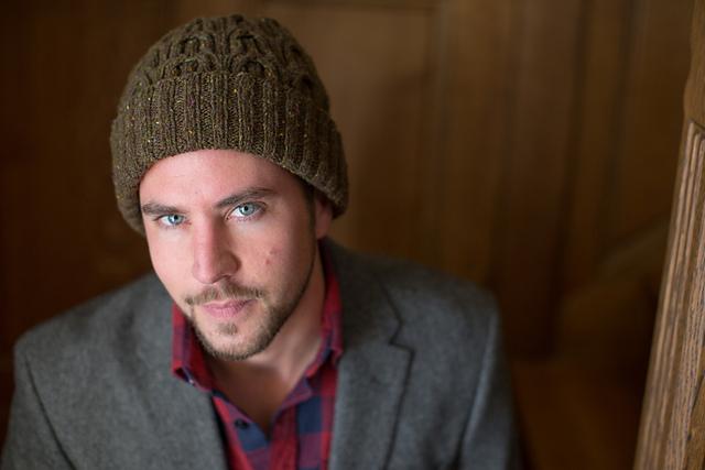 Mason's Hat pattern by Carol Feller in Studio Donegal Soft tweed.