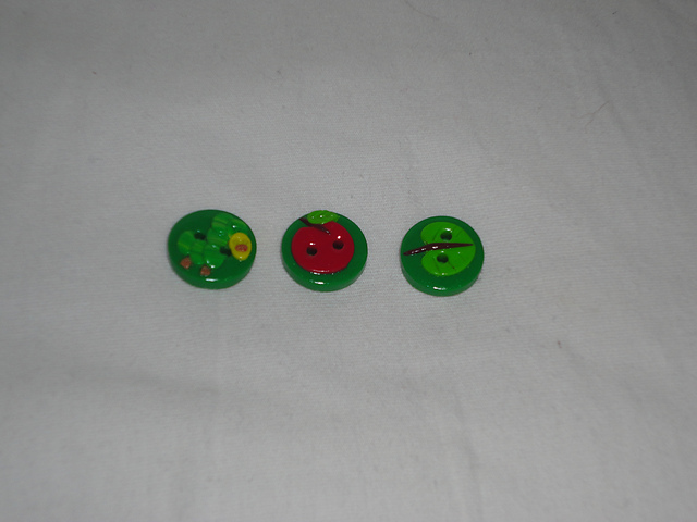 Hungry Catipillar Buttons