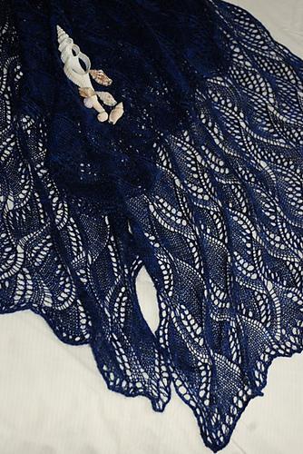 """披肩:基兰 · 佛利的""""湍流靛蓝"""" - maomao - 我随心动"""