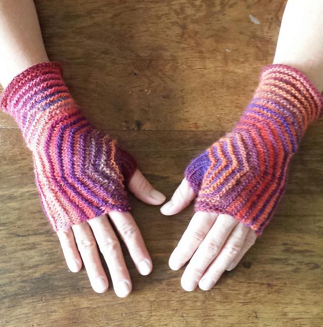 """针织:"""" 六角形手套 """" - maomao - 我随心动"""