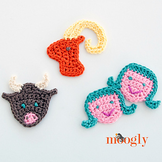 Crochet Patterns For Zodiac Signs : Ravelry: Zodiac Appliques: Aries, Taurus, Gemini pattern by Tamara ...