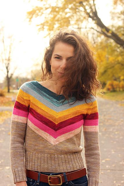 chandail pour femme tricoté Camaro par Tanis Lavallee
