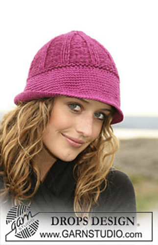 Drops Patterns Knitting : Ravelry: 109-11 Hat with wide crochet bottom edge pattern by DROPS design