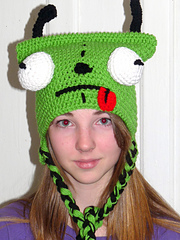 Crochet Invader Zim Patterns : Ravelry: GIR Invader Zim Crochet Hat Pattern pattern by Darla Allen