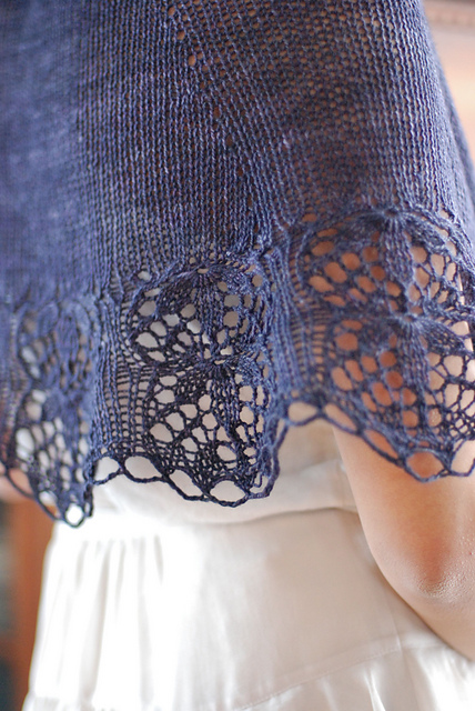 Châle en tricot mariage