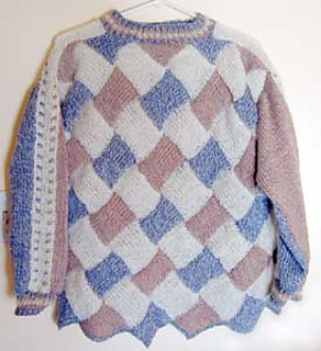 Entrelac Knitting Patterns Sweater : Ravelry: Machine Knit Entrelac Sweater pattern by Theresa A. Husarik