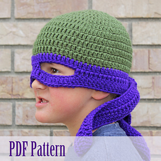 Crochet Pattern Tmnt Hat : Ravelry: TMNT Inspired Hat pattern by Tia Davis