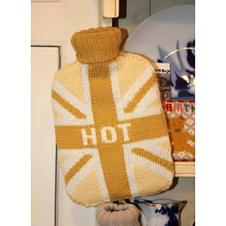 Ravelry: Union Jack Hot Water Bottle Cover pattern by Gary Kennedy (Intarsia)