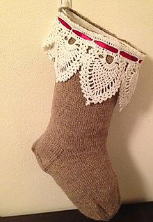 Christmas Stocking Knitting Pattern Ravelry : Ravelry: Knitted Christmas Stocking with Crocheted ...