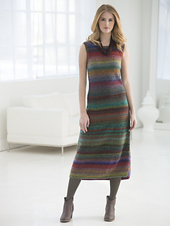 Knitting Pattern For Maxi Dress : Ravelry: Shapely Striped Maxi Dress pattern by Vladimir Teriokhin