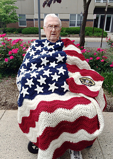 Ravelry Wavy American Flag Pattern By Tracy Johnson