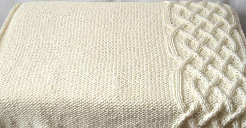 Irish Baby Blanket Knitting Pattern : Ravelry: Celtic Knit Baby Blanket pattern by Makenzie Alvarez Hanks And Needles
