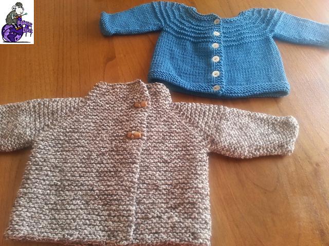 Mi planeta de lanas chaquetas para beb - Como hacer ochos de punto ...
