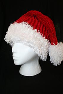Ravelry Loom Knit Santa Hat Pattern By Dena Ziegler