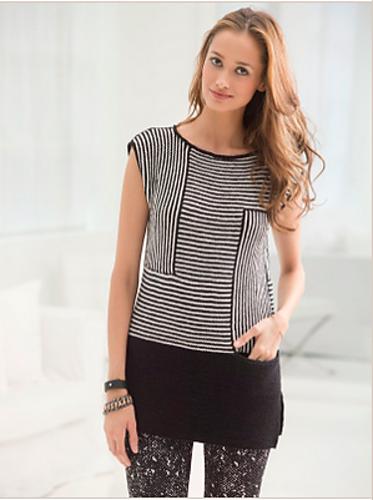 几何条纹套头衫-Tribeca Tunic - Tina - Tina的手工编织的博客