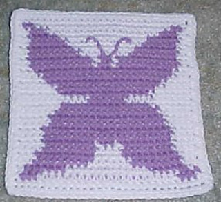 Ravelry Butterfly Afghan Square Pattern By Crochet N More