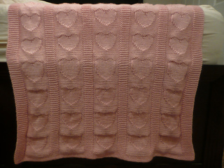 Free Knitting Patterns Baby Blankets Hearts : Ravelry: Heart Baby Blanket pattern by Ann Saglimbene