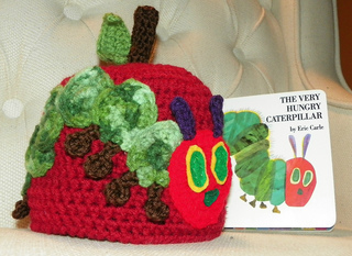 Very Hungry Caterpillar Crochet Hat Pattern Free : Ravelry: Caterpillar Ate an Apple Hat ( The Very Hungry ...