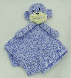 Knitting Pattern For Comfort Blanket : Ravelry: Monkey Comfort Blanket pattern by Yorkshire Knitting