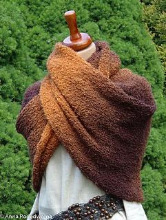 Ravelry: Rainbow boucle shawl pattern by Anna Belli