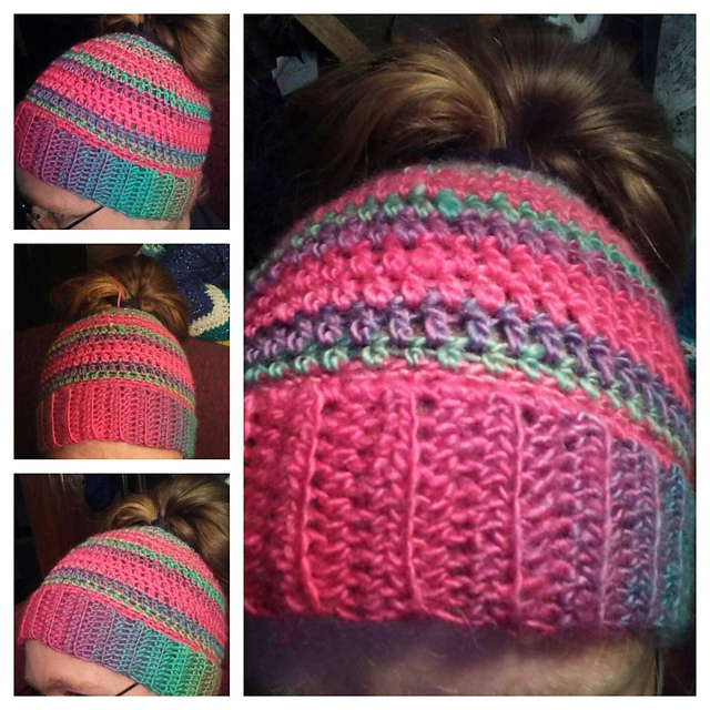 Ravelry Messy Hair Bun Hat Pattern By Kayla Rollin