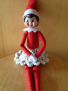 Ravelry Ruffled Trim Elf On The Shelf Skirt Pattern By