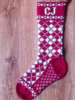 Ravelry: Grandma's Argyle Sock Christmas Stocking pattern by Dorene ...