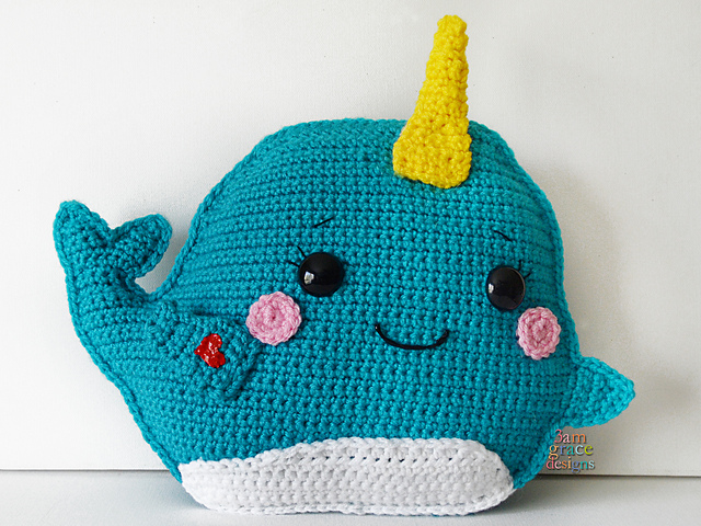 Ravelry Narwhal Kawaii Cuddler Pattern By Donna Michaelene