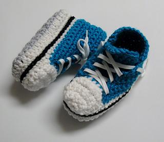 chaussures de séparation d492c ca875 Ravelry: Children's Converse Slippers / Pantoufles Converse ...