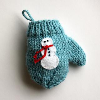 Ravelry Felt Applique Mitten Christmas Ornament Pattern