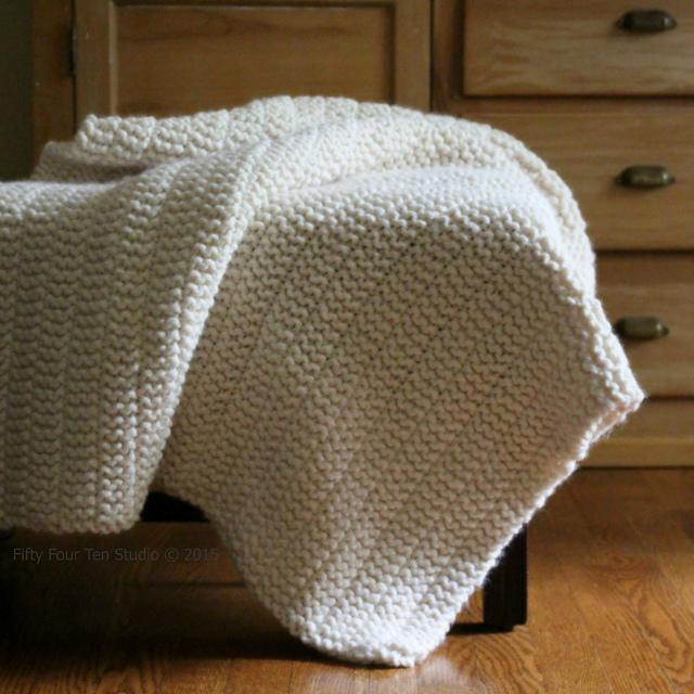white boulevard knit blanket