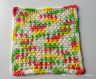 Knitted Dishcloth Patterns For Variegated Yarn : Ravelry: Moss Stitch Dishcloth pattern by Erica Dietz