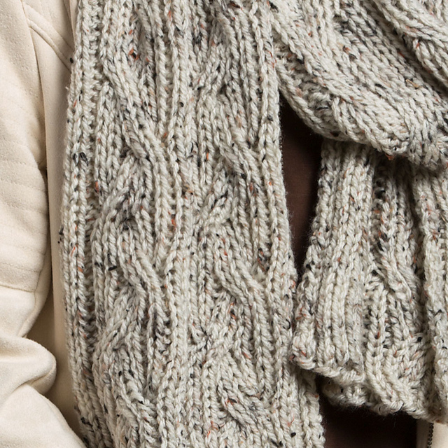 Ravelry: Reversible Knit Cable Scarf pattern by Stitch Studio Design ...