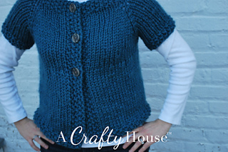 cbc41344b Ravelry  Short Sleeve Quick Cardigan pattern by A Crafty House