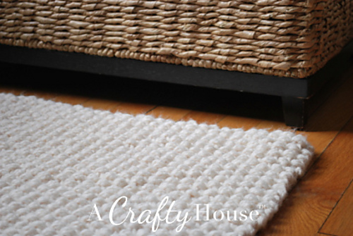 Ravelry Chunky Seed Stitch Rug Pattern By A Crafty House