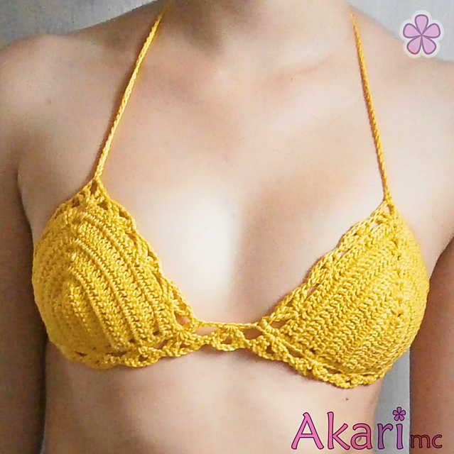 Ravelry Easy Triangle Bikini Top With Shells M25 Pattern By