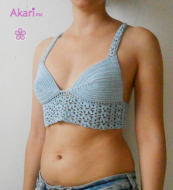Ravelry Bralette With Flowers M27 Pattern By Melissa Flores
