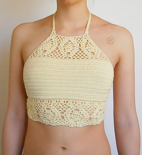 Ravelry The Tropical Crop Top C15 Pattern By Melissa Flores