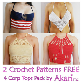 ravelry 2 crochet patterns free 4 crochet crop tops pack pct1