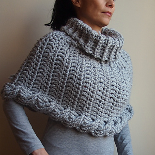 Ravelry Cable Crochet Poncho Cape Pattern By Ana D