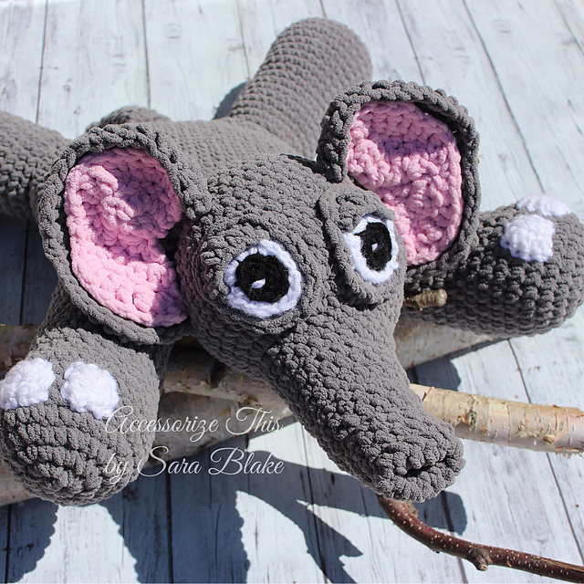 Ravelry Morton The Elephant Pillow Buddy Pattern By Accessorize
